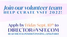 Seeking: Senior Programmer (VSFF Volunteer Position)