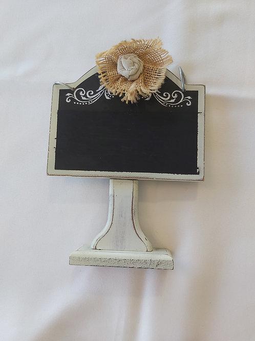 Small tabletop chalk board