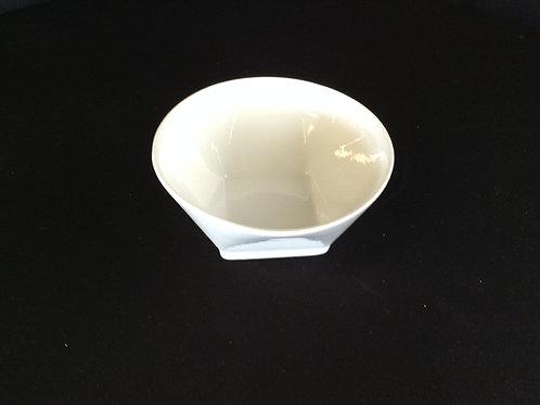 """5"""" White Bowl Square Bottom"""