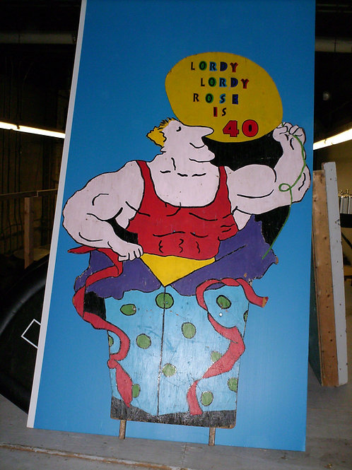 Muscle Man Lawn Sign