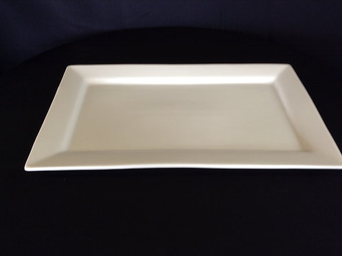 "11"" x 17"" Rectangular White Serving Platter"