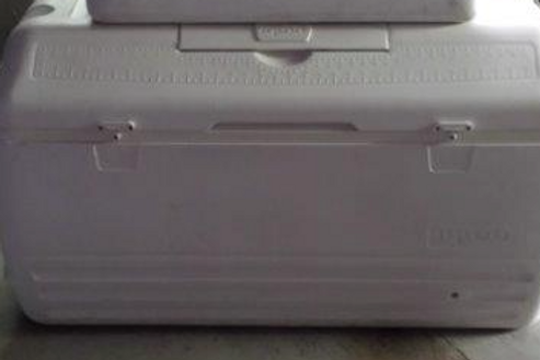 XL White Cooler - 2 lids