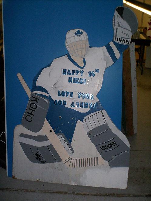 Hockey Goalie Lawn Sign