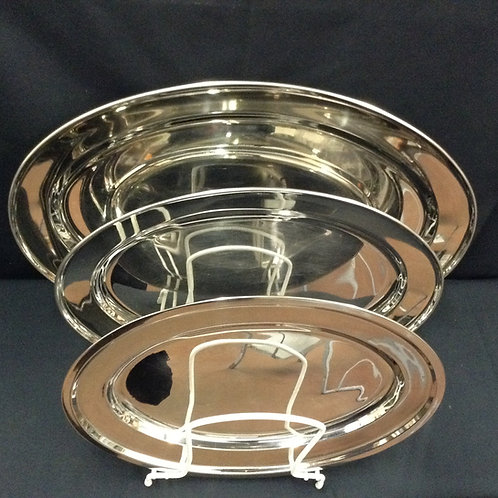 "15"" Oval Stainless Tray"