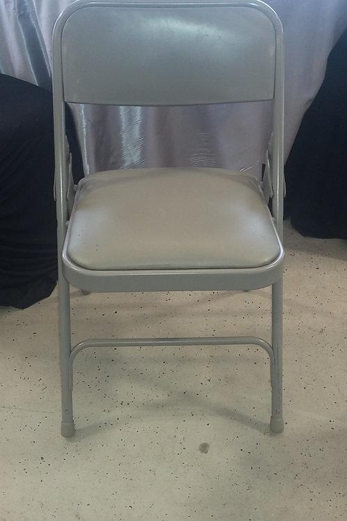 Grey Padded Folding Chair
