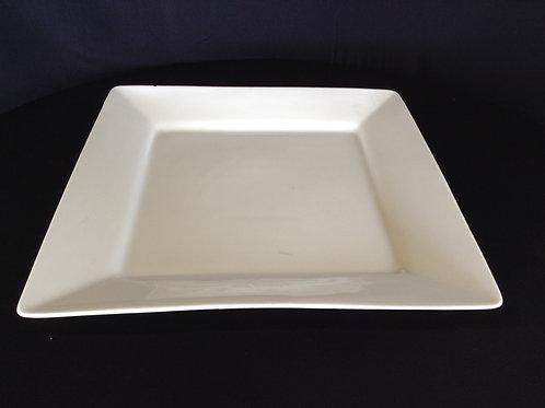 "14' x 14"" Square White Square Platter"