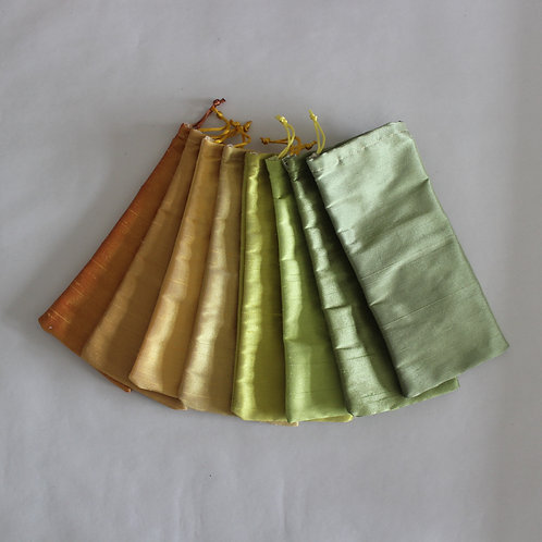 Green/Yellow Drawstring Glasses Cases