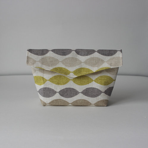 Medium Popper Pouch - Abstract Oval Stripe