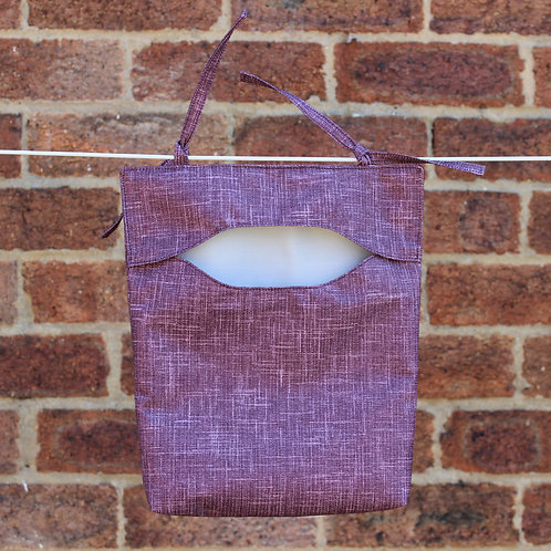 Subtle Purple Crosshatch Peg Bag