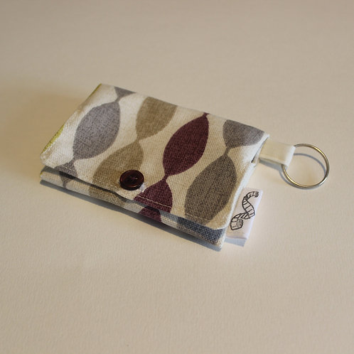 Abstract Oval Stripe Coin Purse