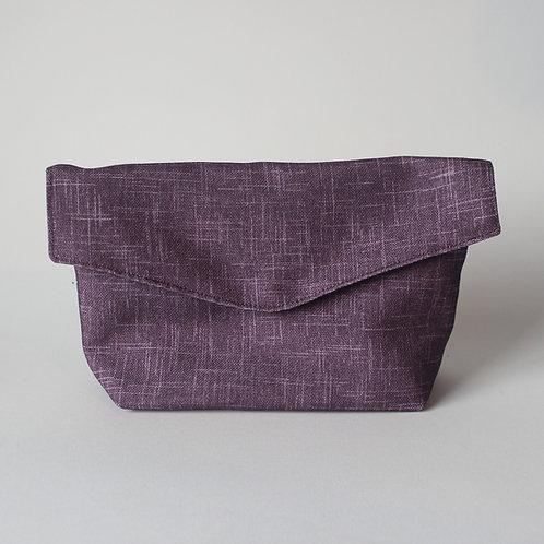 Large Popper Pouch - Subtle Purple Crosshatch