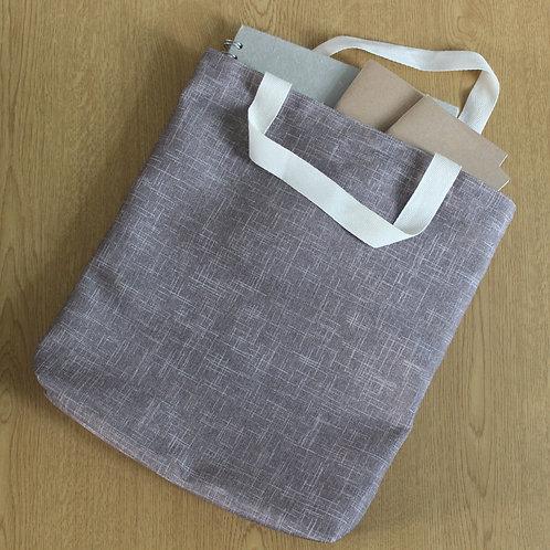 Tote Bag - Subtle Beige Crosshatch