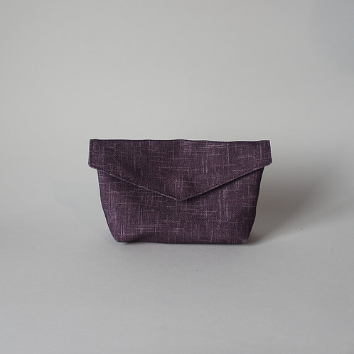 Small Popper Pouch - Subtle Purple Crosshatch