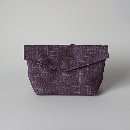 Medium Popper Pouch - Subtle Purple Crosshatch