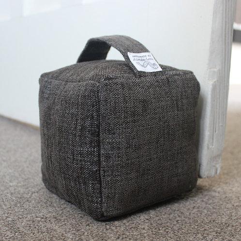 Cube Doorstop - Dark Grey