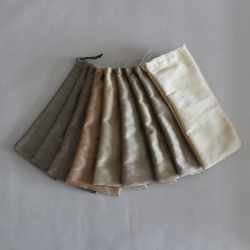 Natural/Metallic Drawstring Glasses Cases