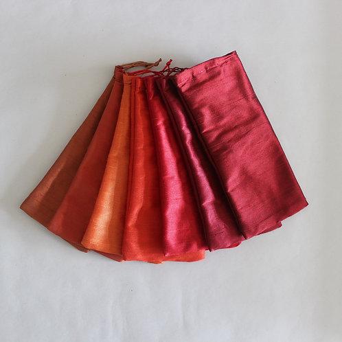 Orange/Red Drawstring Glasses Cases