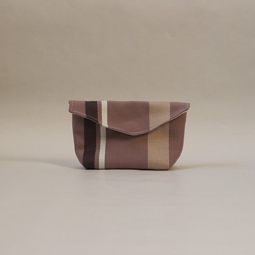 Small Popper Pouch - Purple Stripe