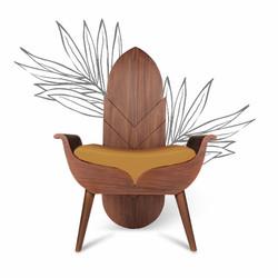 Burgeon arm chair