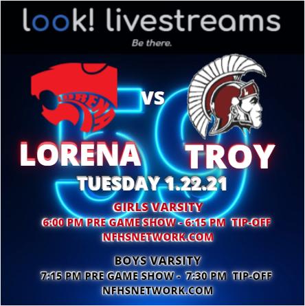 Lorena vs. Troy Basketball 1.22.21 Graph
