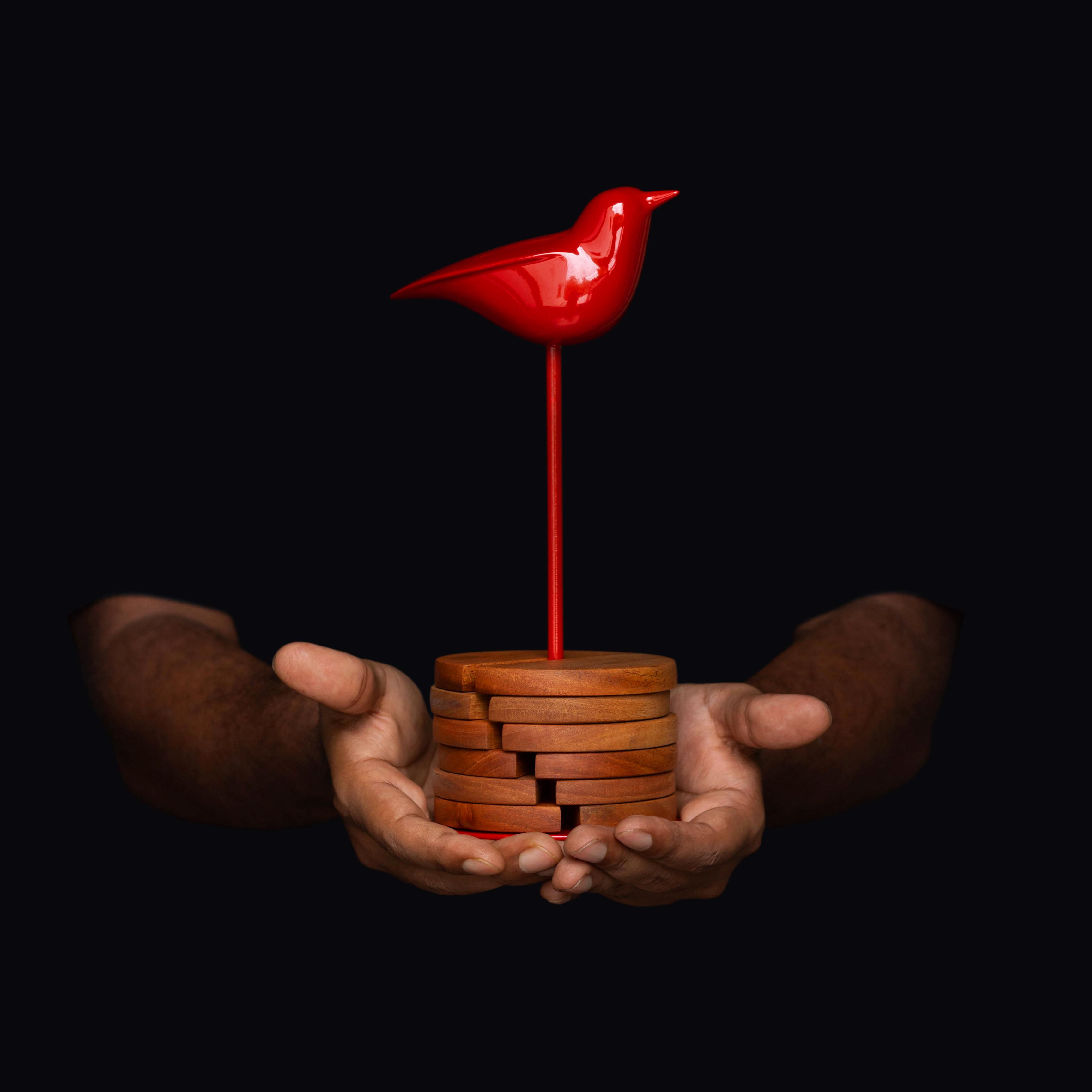 Bird coaster red
