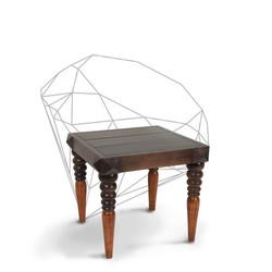 Dark diamond side table