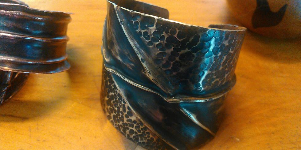 Fold Formed Copper Cuff