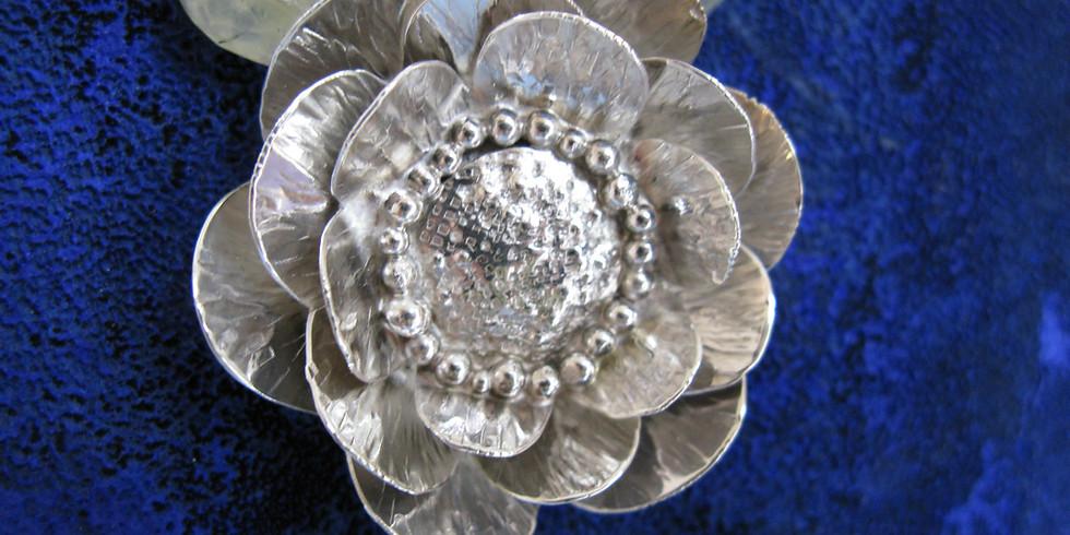 Two Week Silver Lotus Pendant Workshop with Jayn Gardner (1)