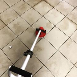 Melamine on a tiled floor