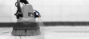 MotorScrubber JET3 spraying chemical on floor