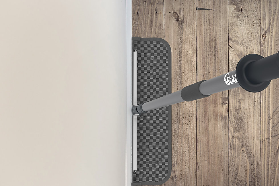 BLADE precision cleaning a skirting board