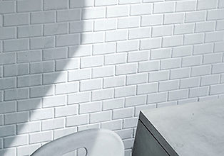 white tiled wall