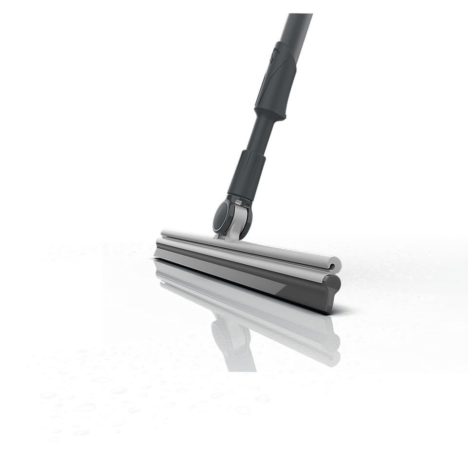 BLADE drying the floor with squeegee blade