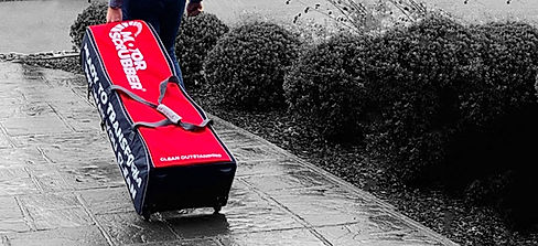 MotorScrubber sales rep with M-Case Pro demo case