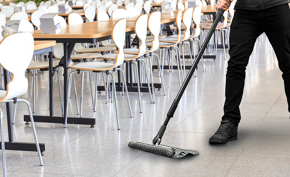 BLADE absorbing spill in school cafeteria