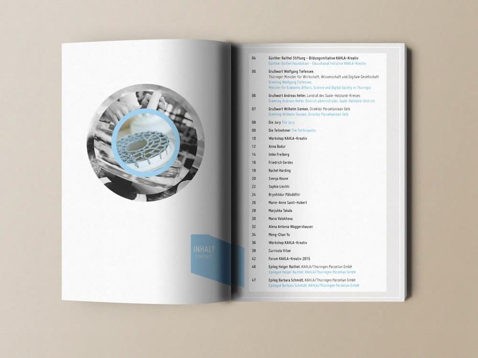Günther Raithel Stiftung KAHLA kreativ   elsakuno brand & editorial design für ausstellungen