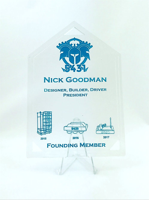 Senior Robotics Award