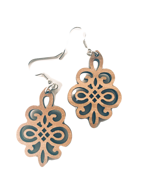 Walnut Filigree Earrings