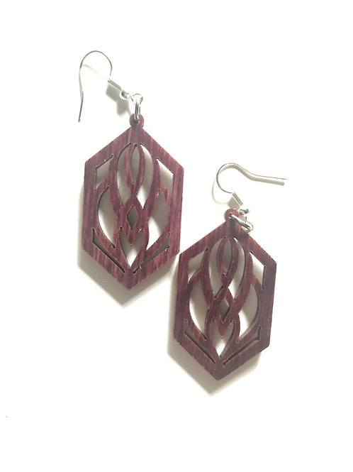 Hexagonal Scroll Earrings