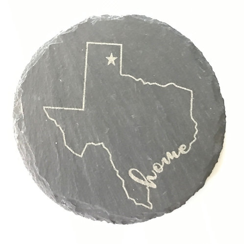 My Home Texas Slate Coaster
