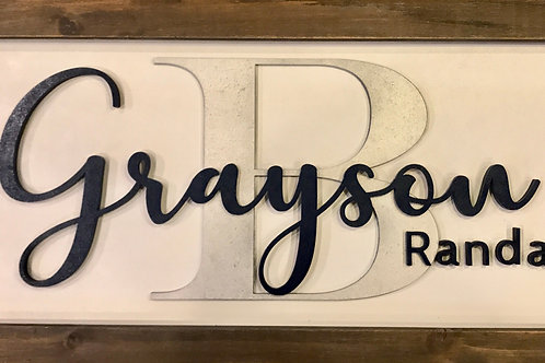 Custom Child's Name Sign