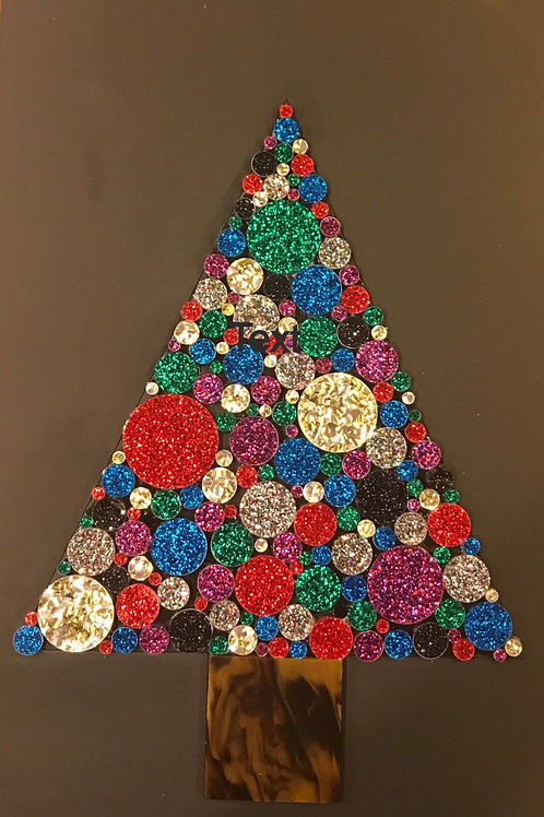 Retro Glitter Christmas Tree