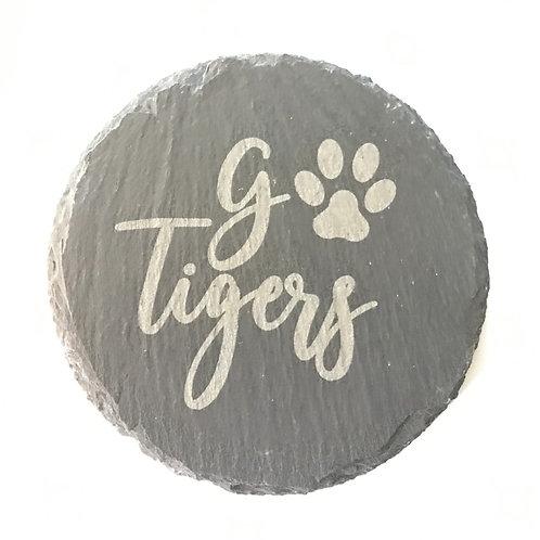Go Tigers Slate Coaster