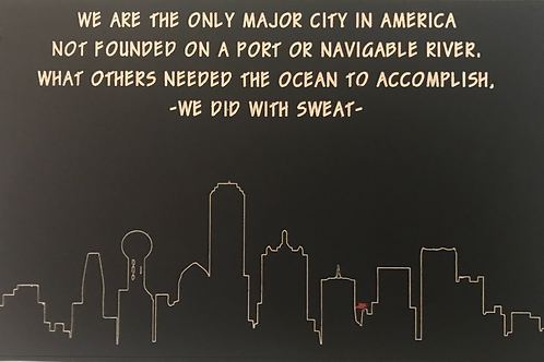 Etching of Dallas Skyline
