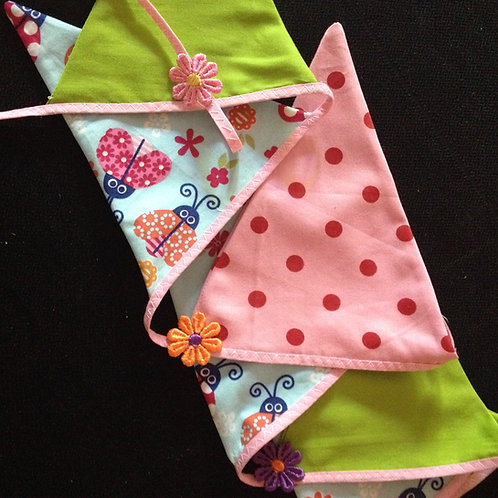 Ladybird fabric bunting