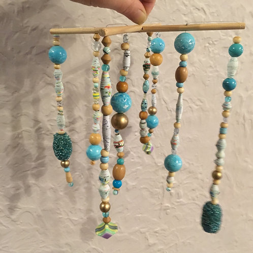 Bead mobile - SM - Turquoise/Natural