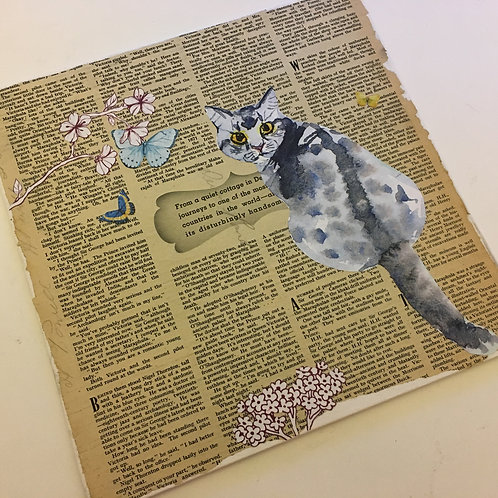 'A Spot of Reading in the Garden' - mini collage