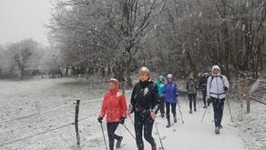 La Marche Nordique sous la neige !
