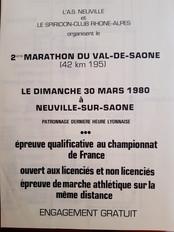 1980 - Flyer Marathon du Val de Saône