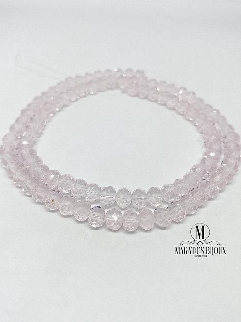 Fio de Cristal Rosa Transparente N° 06